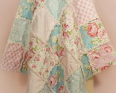 """Rag Quilt, ~ Made to Order ~, Baby Girl Quilt, Shabby Chic, 36"""" x 36"""" Quilt, Baby Shower Gift, Roses, Pink, Blue, White, Gingham, Damask by BerryonaThread on Etsy https://www.etsy.com/listing/219723089/rag-quilt-made-to-order-baby-girl-quilt"""