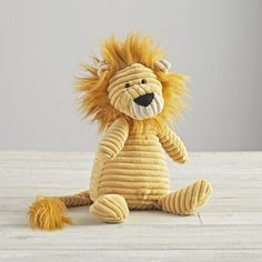 Sewing Stuffed Animals Plush_Lion_NEW - Shop Jellycat Corduroy Lion Stuffed Animal. The super soft cord on these adorable, plush creatures is sure to strike a chord with you or your little one. Lion Nursery, Jungle Theme Nursery, Nursery Themes, Theme Bedrooms, Jungle Bedroom, Nursery Ideas, Elephant Stuffed Animal, Sewing Stuffed Animals, Cute Stuffed Animals