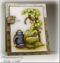 Its a Jungle Out There (Includes Watercolor Tutorial) - Running With Scissors. Watercolour Tutorials, Watercolor Ideas, Watercolor Techniques, Watercolour Painting, Leaf Projects, Diy Projects, Tombow Markers, Colored Pencil Techniques, Coloring Tutorial