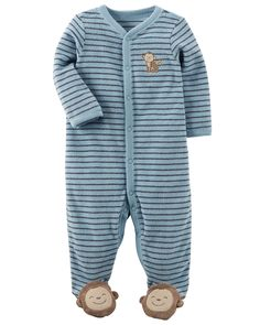 Cute, cuddly and oh-so soft, this easy 1-piece is perfect for playtime, tummy time, or anytime!