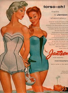 Vintage swimsuits, maybe I should bring this style back. Hide the wobbly bits!