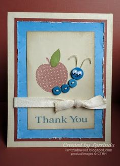 Isn't That Sweet?!: Teacher thank you card