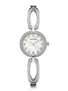 Now available on our store: Bulova Women's Wa... Check it out here! http://shirindiamond.net/products/bulova-womens-watches-96l223-retail-199?utm_campaign=social_autopilot&utm_source=pin&utm_medium=pin