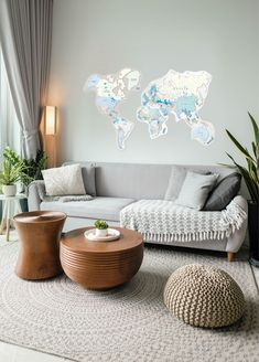 Blue World Map For Children room by GaDenMap. Push Pin travel map for wall decor in office room, bedroom, living room, kid's room decorating. Kids Room Decor, world map wall mural kids, Push Pin World Map, World map wall art kids, Modern Wall Decor, Children World Map #worldmap #homedecorating #nurserydecor Map Wall Decor, Wooden Wall Decor, Rustic Decor, Farmhouse Decor, World Map Decor, Living Room Decor, Bedroom Decor, Kids Wall Murals, Globe Decor