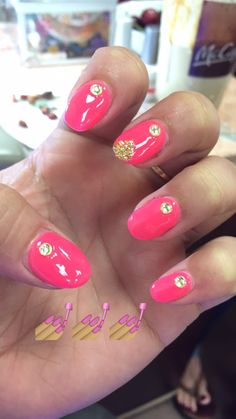 Rose Glow  #fresh #overlay #neon #pinks #diamonds #gold #glitter #love  #gel