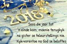 Voorspoedige Nuwe Jaar Happy New Year 2019, Christmas Quotes, Afrikaans, Appliques, Mandala, Place Card Holders, Gallery, Riveting, Roof Rack