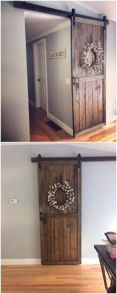 Recycled Pallet Sliding Door
