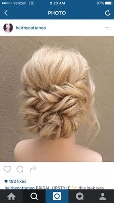 Twisted updo from Instagram