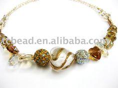 cristais de Murano - colar de vidro Murano