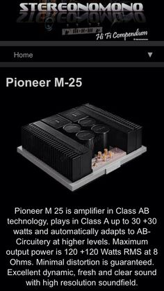 Pioneer Power Amplifier M-22 & M-25