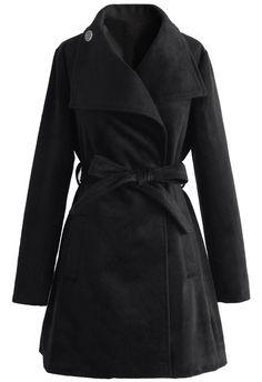 Urban Chic Belted Woolen Coat in Black - Retro, Indie and Unique Fashion Vintage Tops, Unique Fashion, Indie, Led Dress, Urban Chic, Models, Simple Dresses, Short, Retro