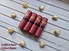 Долгожданное знакомство с Golden Rose Velvet Matte № 12, 17, 27 и 28