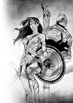 Trinity Comic Art, Comic Books, Dc Trinity, Batman The Dark Knight, Dc Comics Art, Batman Vs Superman, Justice League, Marvel Dc, The Darkest