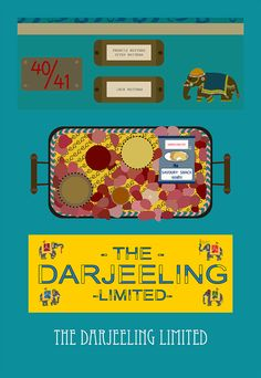 the darjeeling limited movie poster postcard 4'X6' by LiveitupS2, $1.50