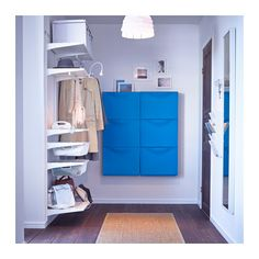TRONES Shoe cabinet/storage - blue - IKEA