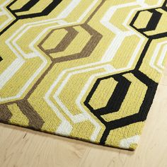 """Kaleen Escape Rectangle Area Rug in Gold - ESC08-05 - ESC08-05-23  Find your magical oasis and the perfect getaway from everyday life with our new Escape Collection! These fun geo printed Indoor/Outdoor rugs, will completely change your new destination, while making your room or patio the life of the party! Each rug is UV protected and handmade with 100% Polypropylene, complete with our special """"K-Stop Non-Skid Backing"""".  What's included:  Rug"""