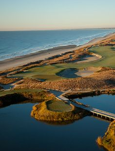 Kiawah Island - Ocean Course. Designed by World Golf Hall of Fame architect, Pete Dye. Kiawah's not a bad place to retire to... only seven golf courses to choose from.