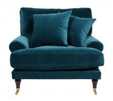 Andrew fåtölj blågrön sammet Love Seat, Accent Chairs, Couch, Living Room, Interior, Inspiration, Furniture, Home Decor, Upholstered Chairs