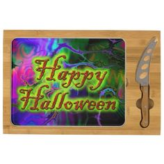 Happy Halloween 2 Rectangular Cheese Board