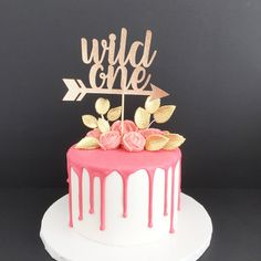 Wild One Glitter Cake Topper, Wild One Birthday, Wild One Tribal Party, First Birthday Cake Topper, Where the Wild Things Are by TrendiConfetti on Etsy https://www.etsy.com/ca/listing/518776698/wild-one-glitter-cake-topper-wild-one
