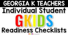 Grab this GKIDS readiness checklist for individual students.