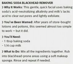 For black heads