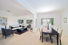 Conteporary combined dining / formal lounge area