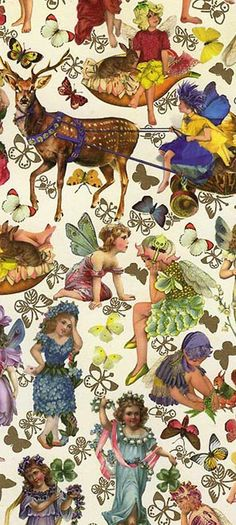 Flower fairies Christmas crafting paper made in Germany