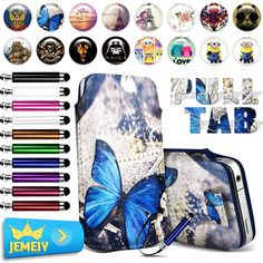 Printed case For HTC desire 700/ one m8 /acer iconia smart/Alcatel OT flash 2 Phone case Leather Pull Tab Pouch case Middle Size