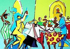 Caybé - Galeria de Gravura - Dança das entidades