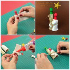 Diy Craft Projects, Diy Crafts, Nativity, Triangle, Scene, Seasons, Create, Mini, Christmas