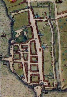 Map of Southampton Castle