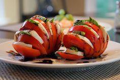 summer dishes, skinny foods, presentation, capres salad, dinner ideas, mozzarella, recip, salads, heirloom tomatoes