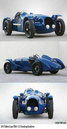 1938 Talbot-Lago C SS Teardrop cars cars sports cars sport cars Sexy Cars, Hot Cars, Classic Sports Cars, Classic Cars, Roadster Car, Automobile, Auto Retro, Vintage Race Car, Courses