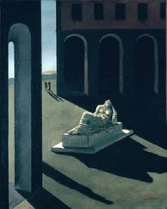 An poster sized print, approx (other products available) - CHIRICO: MELANCOLIE, <br>Giorgio de Chirico: Melancolie. Oil on canvas, - Image supplied by Granger Art on Demand - Poster printed in the USA Italian Painters, Italian Artist, Modern Art, Contemporary Art, Art Du Monde, Oil On Canvas, Canvas Prints, Photo Mug, Traditional Paintings