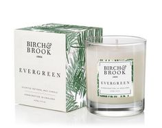 The limited edition Evergreen scented candle from Birch & Brook. With notes of fir balsam, crushed pines and a base of woody cedar really does bring Round Candles, Buy Candles, Candle Box, Candle Jars, Great Christmas Gifts, Scented Candles, Wooden Boxes, Evergreen, Wax