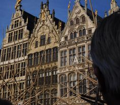 My dad looking at these wonderful houses  -Grand Place