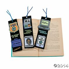 Color Your Own Agents of Truth VBS Bookmarks, Coloring Crafts, Crafts for Kids, Craft & Hobby Supplies - Oriental Trading