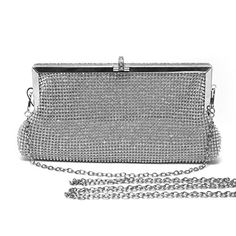 Mlife Women Crystal Clutch Evening Bag Sliver >>> Check out the image by visiting the link.