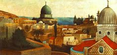 The Athenaeum - View from the Temple Square to the Dead Sea in Jerusalem (Tivadar Csontvary Kosztka - ) Temple Square, Panoramic Photography, Panoramic Images, Post Impressionism, Folk Art, Art Gallery, Canvas Art, The Incredibles, Illustration