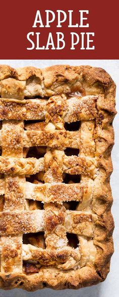 Apple Slab Pie! The perfect dessert for a crowd, plus more flaky crust in every bite. Use a mix of apples for best flavor. Great for apple-picking parties, Thanksgiving, or holiday gatherings.