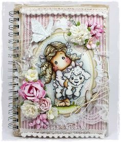 Altered Notebook by LLC DT Member Diana DeeDee Adamski. Papers from Maja Design, image from Magnolia.