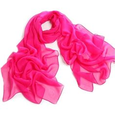 Fashionable Solid Color Chiffon Scarf - Magenta at Amazon Women's... ❤ liked on Polyvore featuring accessories, scarves, chiffon shawl and chiffon scarves