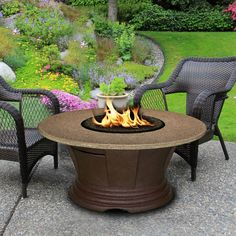 """San Simeon Chat Height 48"""" Round Fire Pit"""