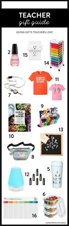 Gifts for teachers or coworkers does not have to be hard this year! Shopping for teachers is made simple with our teacher gift guide. | maneuveringthemiddle.com via @maneveringthem