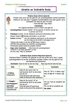 Grade 6/7 Afrikaans: Direkte en Indirekte rede Kids Learning Activities, Teaching Resources, Afrikaans Language, Career Quotes, Success Quotes, Guitar Chords And Lyrics, Direct Speech, Self Improvement Quotes, Rhymes Songs