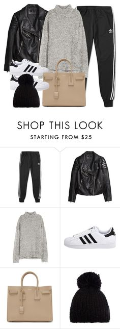 """""""Style #11719"""" by vany-alvarado ❤ liked on Polyvore featuring adidas, H&M, adidas Originals, Yves Saint Laurent and Barts"""