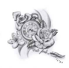 Need a custom design?- Besoin d'un dessin sur mesure ? Alors vous êtes à la bonne adresse. – Tattoo Uhren Kompass Sanduhren Need a custom design? Pretty Tattoos, Unique Tattoos, Cute Tattoos, Classy Tattoos, Tatoos, Model Tattoos, Body Art Tattoos, Compass Tattoo, Lottus Tattoo