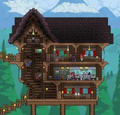 Terraria Memes, Terraria Tips, Terraria House Design, Terraria House Ideas, Construction Games, Biomes, Minecraft Houses, Pixel Art, Just In Case