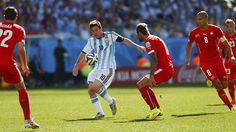 Messi contra todos .. Argentina 1 Suiza 0 .......... Gol de Di Maria..... en tiempo suplementario..... 1 julio de 2014.. octavos de final..  Estadio Arena Corinthias ... San Pablo.. Brasil.